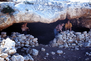 One of many caves in Israel; used in recent centuries as homes, stables, storage, etc.